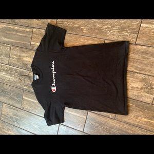 Vintage black champion T-shirt size large